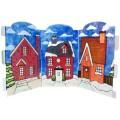 Emballage de 3 découpes en acrylique flexible - Maisons de Noël
