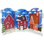 3 Christmas house acrylic cut out