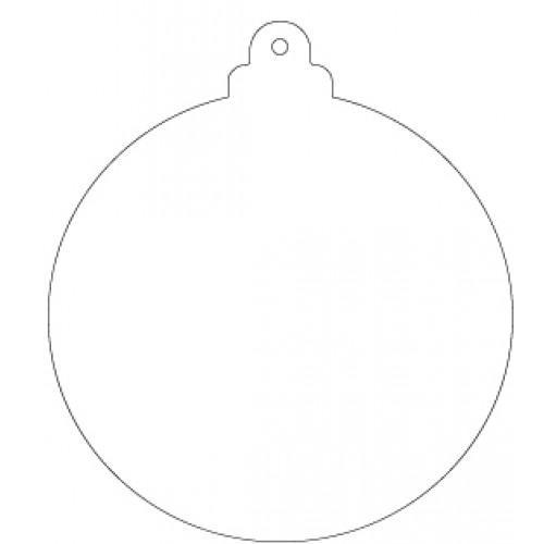 Découpe en acrylique flexible - Boule de Noël ronde