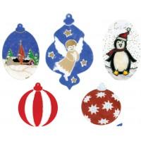 Emballage de 5 découpes en acrylique flexible - Boule de Noël
