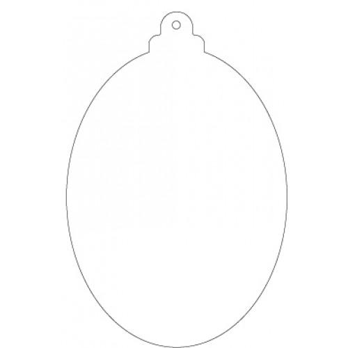 Découpe en acrylique flexible - Boule de Noël Ovale