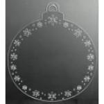 Boule de Noël ronde avec flocons - Clair - 16 pouces
