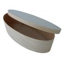 Oval box for fondue fork