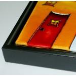 Toile avec Cadre Déco noir - Gotrick - 12 x 16